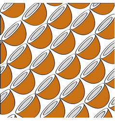 Coconuts pattern fresh fruit drawing icon vector