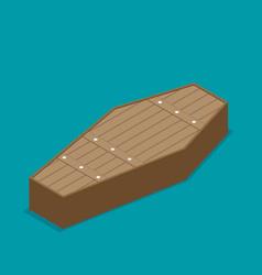 coffin cross halloween flat vector image