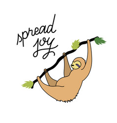 Cute character sloth vector