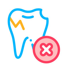 dentist stomatology unhealthy tooth icon vector image