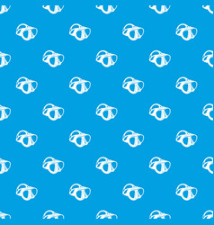 dive mask pattern seamless blue vector image