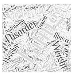 Eating Disorders in Adolescents Word Cloud Concept vector
