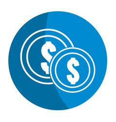 Emblem coins money save vector