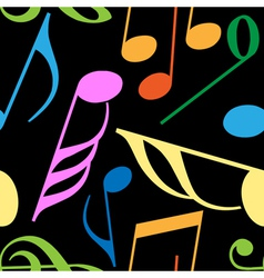 Endless music pattern vector