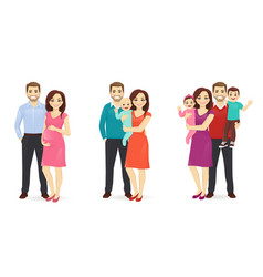 Family portrait set vector