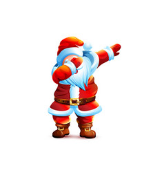 father frost christmas character dancing dab step vector image