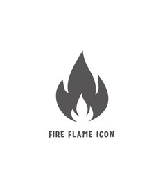 fire flame icon simple flat style vector image