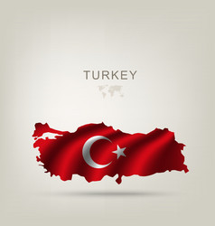Flag of Turkey as a country vector
