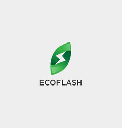 Flash nature leaf simple logo template icon vector