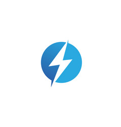 flash thunderbolt template icon design vector image