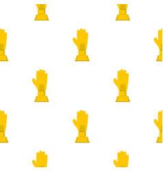 Golden baseball glove trophy pattern seamless vector