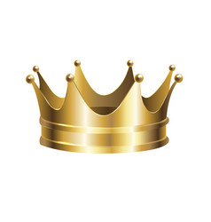 golden crown isolated vector image