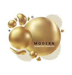golden trendy concept vector image