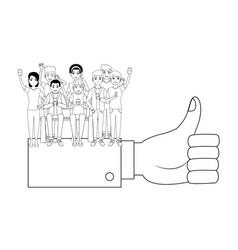 Group of friends cartoon vector