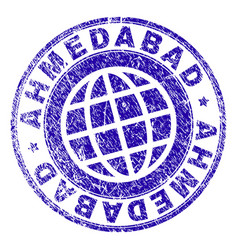Grunge textured ahmedabad stamp seal vector