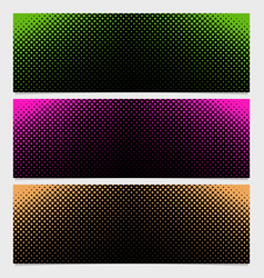 Halftone dot pattern banner design from - from vector