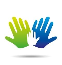 Hands family concept icon design vector