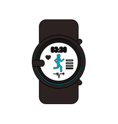 heart rate monitor icon image vector image