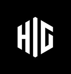 hig letter logo concept hexagonal logo vector image