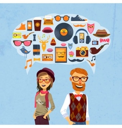Hipster Speech Bubble vector image