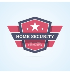 Home security badge vector