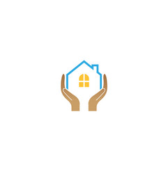 House holding care logo design vector