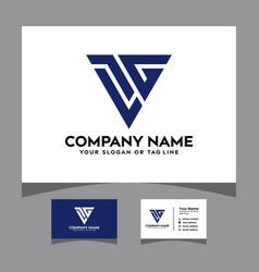 Initials ltg logo with a business card vector