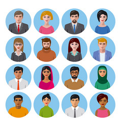 International avatars icons vector