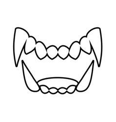 Isolated black and white drama white fang icon vector