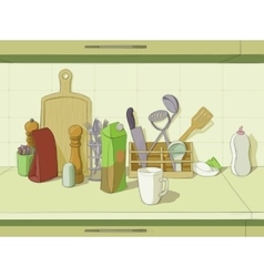 Kitchen still life vector