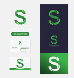 letter s logo premium vector image