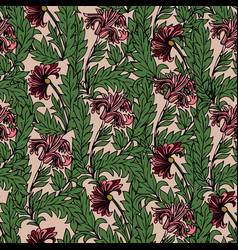 magic tulips seamless pattern vector image