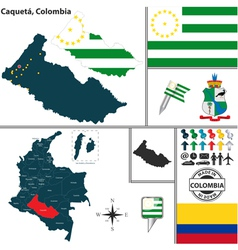 Map of Caqueta vector