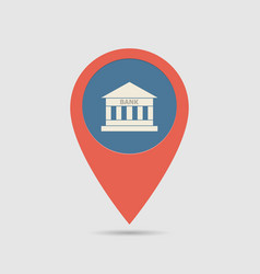 map pin bank vector image