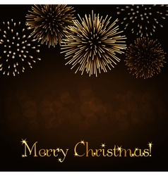 Merry christmas firework background vector