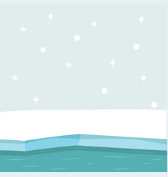 north pole arctic background vector image