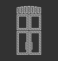 Outlined doors vector