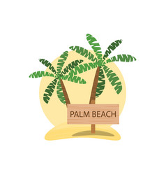 Palm beach logo design summer pattern vector