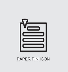 Paper pin icon vector