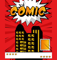 pop art comic book vector image