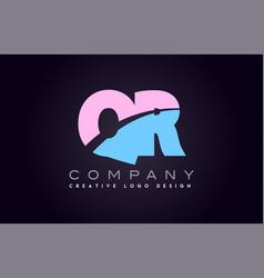 qr alphabet letter join joined letter logo design vector image