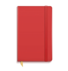 Red copybook with elastic band vector image