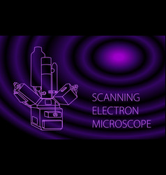 Scanning electron microscope banner vector