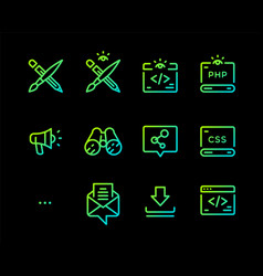set icons different professions icons for vector image