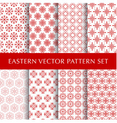 Set of eastern abstract symbol patterns vector