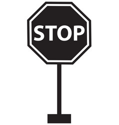 sign stop black board vector image