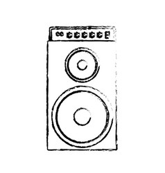Speaker bass icon vector
