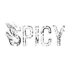 Spicy stamp on white vector