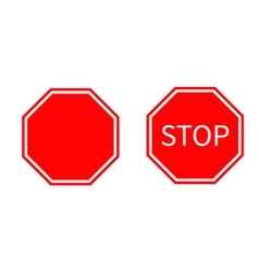 Stop traffic warning road sign set Prohibition no vector image