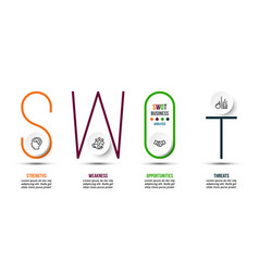 Swot analysis business or marketing infographic vector
